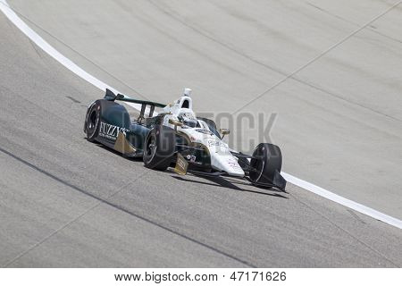 Fort Worth, TX - Jun 07, 2013:  Ed Carpenter (20) takes to the track for a practice session for the Firestone 550 race at the Texas Motor Speedway in Fort Worth, TX on June 07, 2013.