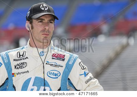 Fort Worth, TX - Jun 07, 2013:  Simon Pagenaud (77) takes to the track for a practice session for the Firestone 550 race at the Texas Motor Speedway in Fort Worth, TX on June 07, 2013.