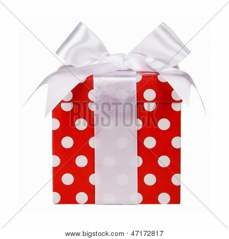 Gift Box And White Bow