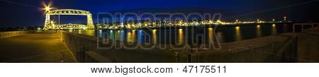 Duluth Minnesota Panorama at Night