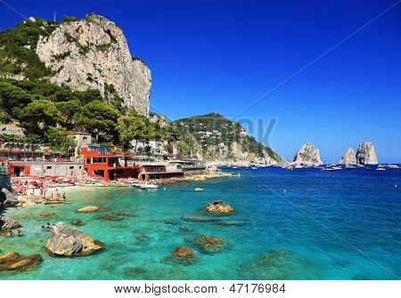 Marina Piccola on Capri Island, Italy, Europe