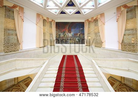 MOSCOW - NOV 21: Main marble staircase of the Central Academic Theatre of the Russian Army, on Nov 21, 2012 in Moscow, Russia