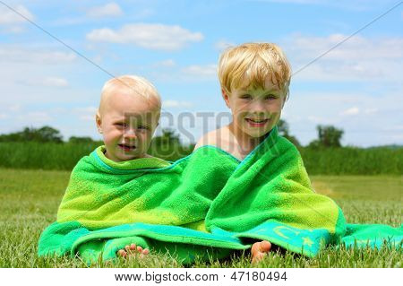 Brothers In Beach Towel