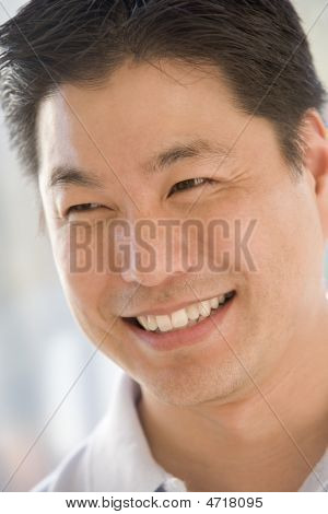 Head Shot Of Man Smiling