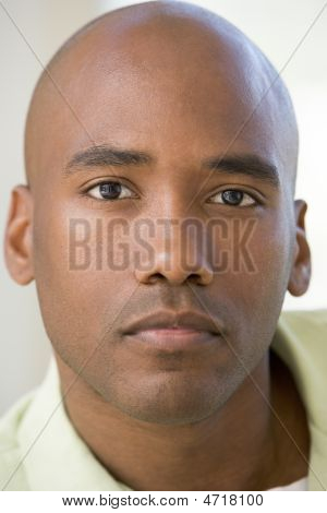 Head Shot Of Man Thinking