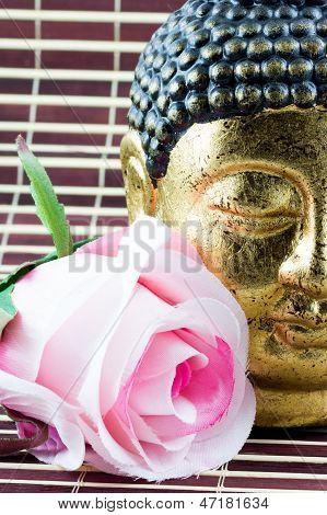 Flower And Buddah Head