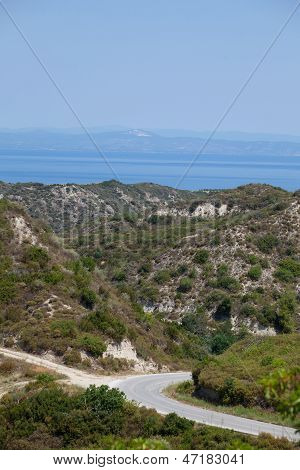 Summer View Of Mediterranean Sea From The Island