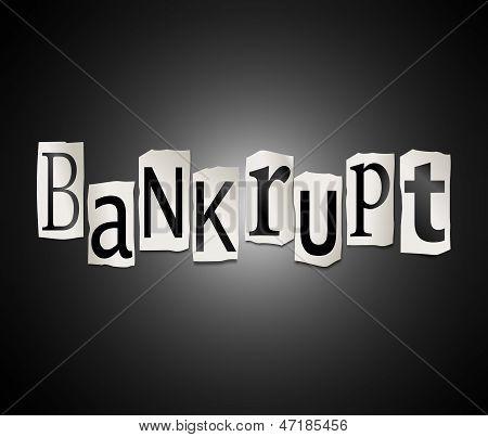Bankrupt Concept.