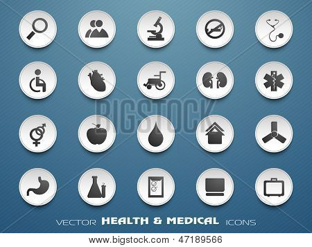 Medical icons set . EPS 10