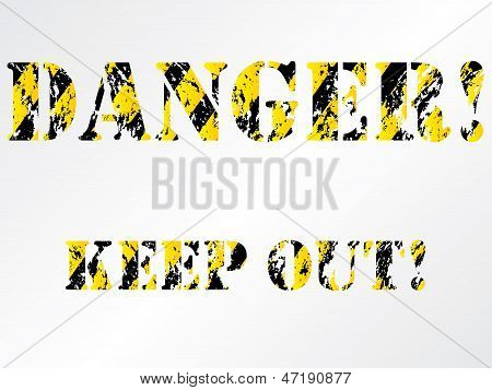 Grunge Danger Background