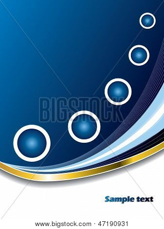 Abstract Blue With White Rings
