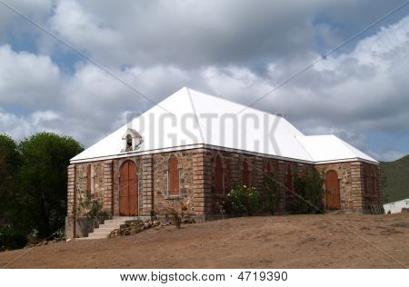 Old Methodist Church In Antigua Barbuda