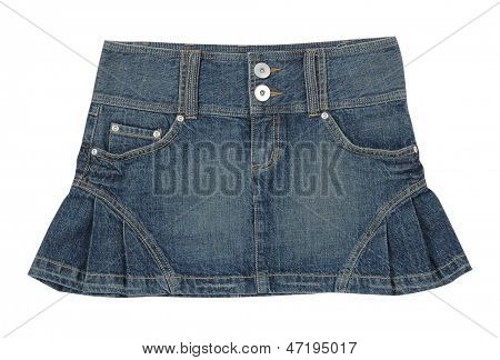 minifalda de jeans