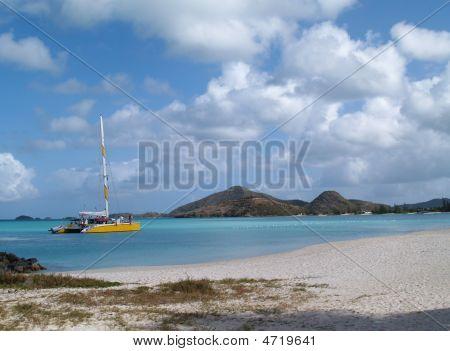 Catamaran Off Jolly Beach, Antigua Barbuda