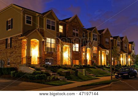 Townhouse at Dusk