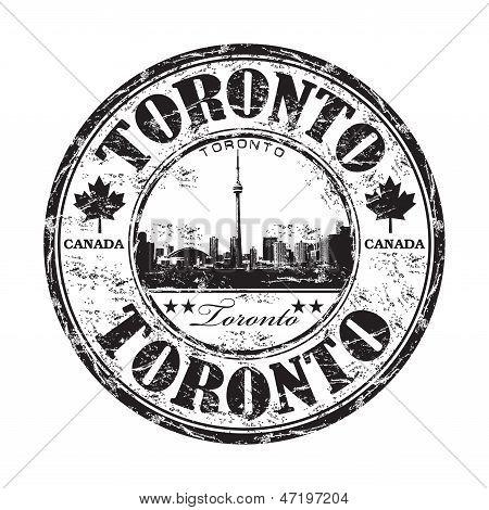 Toronto grunge rubber stamp