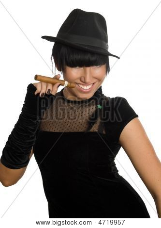 Sexy Girl With Cigar