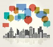 image of social housing  - City Speech Bubbles - JPG