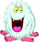 Smiling yeti cartoon