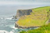 stock photo of cliffs moher  - Cliffs of Moher - JPG
