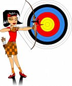 foto of longbow  - girl in a red T - JPG