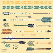 foto of bow arrow  - A set of cute hipster arrows - JPG