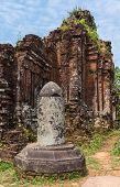 stock photo of champa  - Vietnam Linga at the My Son Cham towers - JPG
