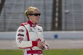 Fort Worth, TX - Jun 07, 2013:  Pippa Mann (18) takes to the track for a practice session for the Fi