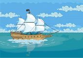 picture of brigantine  - Pirate ship - JPG