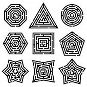 pic of octagon shape  - maze - JPG