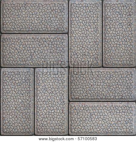 Granular Paving Slabs. Seamless Tileable Texture.