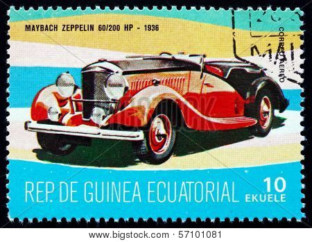 Postage Stamp Equatorial Guinea 1972 Maybach Zeppelin, 1936
