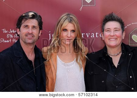 Patrick Dempsey and wife and k.d. land  at the John Varvatos 8th Annual Stuart House Benefit, John Varvatos Boutique, West Hollywood, CA. 03-13-11