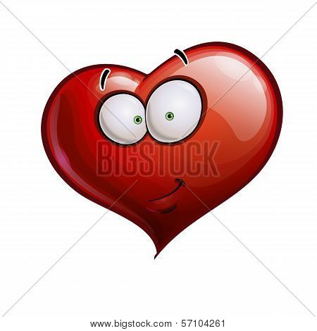 Heart Faces Happy Emoticons - Smirk