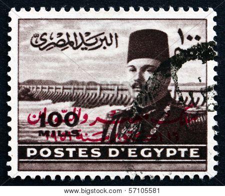 Postage Stamp Egypt 1949 King Farouk Of Egypt