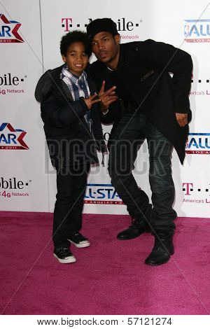 Marlon Wayans and Son at the 2011 T-Mobile NBA All-Star Game, Staples Center, Los Angeles, CA 02-20-11