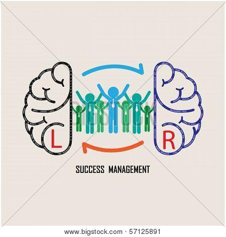 Businessman and creative brain idea concept