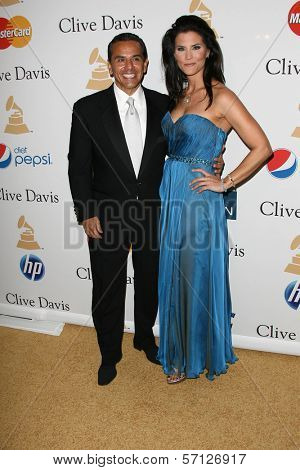 Antonio Villaraigosa and Lu Parker at the Clive Davis Pre-Grammy Awards Party, Beverly Hilton Hotel, Beverly Hills, CA. 02-12-11
