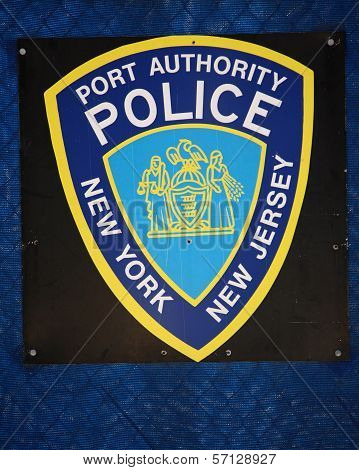 Port Authority Police Sign, New York