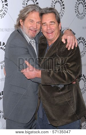 Jeff Bridges and Beau Bridges  at the premiere of American Masters - Jeff Bridges: The Dude Abides, Paley Center for Media, Beverly Hills, CA. 01-08-11