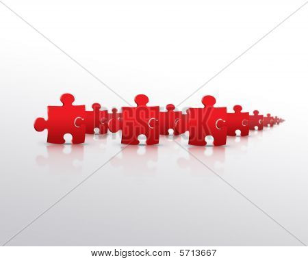 Red puzzle army