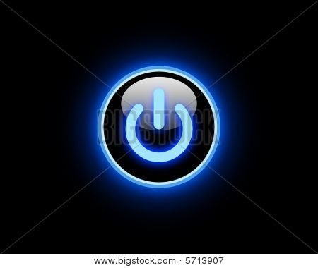 Blue Power button