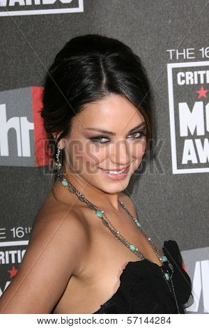 Mila Kunis at the 16th Annual Critics' Choice Movie Awards Arrivals, Hollywood Palladium, Hollywood, CA. 01-14-11