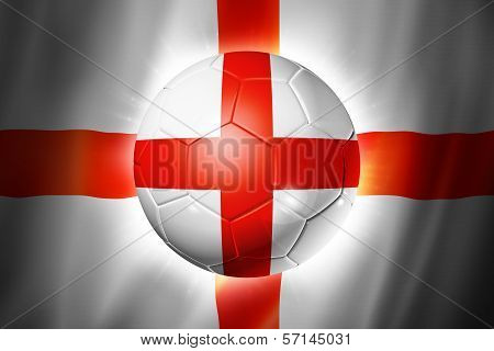 Soccer Football Ball With England Flag