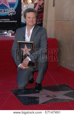Colin Firth at the indiction ceremony for Colin Firth into the Hollywood Walk of Fame, Hollywood, CA. 01-13-11