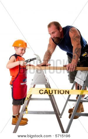 Father And Son Carpenter Job