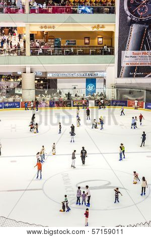 The Ice Rink Of The Dubai Mall