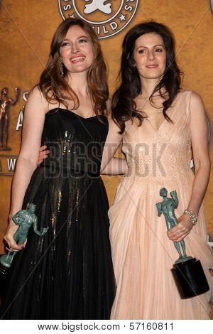 Kelly Macdonald and Aleksa Palladino at the 17th Annual Screen Actors Guild Awards Press Room, Shrine Auditorium, Los Angeles, CA. 01-30-11