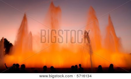 Magic Fountain Of Montjuïc, Barcelona, Spain