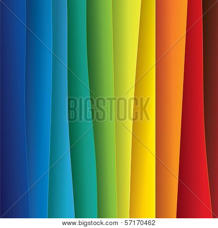 Abstract Colorful Background Paper Or Plastic Sheets - Vector Graphic